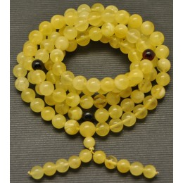 Tibetan Buddhist Mala Prayer 108 Baltic amber beads 7,8mm