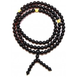 Tibetan Buddhist Mala Prayer 108 Baltic amber beads 5,2 mm