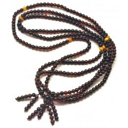 3  Tibetan Buddhist Mala Prayer 108 Baltic amber beads 4,7 mm