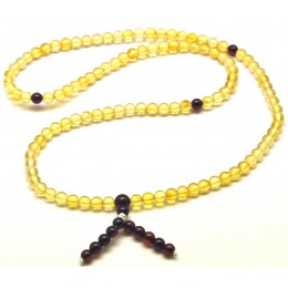 Tibetan Buddhist Mala Prayer 108 Baltic amber beads 4,7 mm