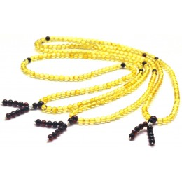 Lot of 3 Tibetan Buddhist Mala Prayer 108 Baltic amber beads 4,7 mm