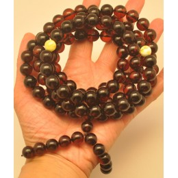 Baltic amber Tibetan Buddhist Mala Prayer 108 beads 11,8 mm