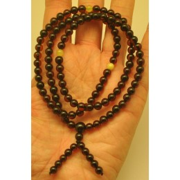 Elastic Tibetan Buddhist Mala Prayer 108 Baltic amber beads 5 mm