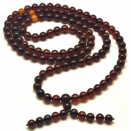 Baltic amber Tibetan Buddhist Mala Prayer 108 beads 11 mm