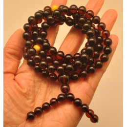 Baltic amber Tibetan Buddhist Mala Prayer 108 beads 8,5 mm