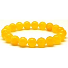 Natural round beads Baltic amber bracelet 10 mm.