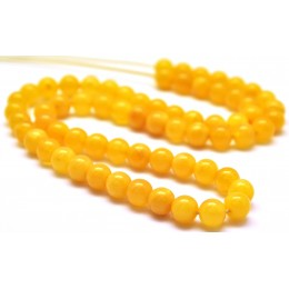 Natural Baltic amber 66 loose  Beads 6 mm strand antique color