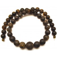 Massive healing Baltic amber round beads long necklace 92 g