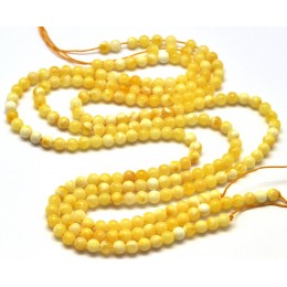 Natural Baltic amber 3x66 loose  Beads 5 mm white strands 40 cm.