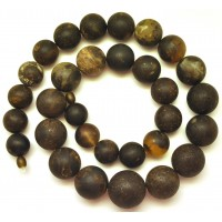 Massive healing Baltic amber round beads long necklace 161 g