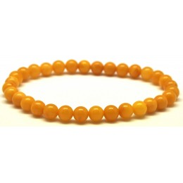 Antique round beads Baltic amber bracelet 6 mm.