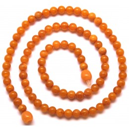 Antique Baltic amber round beads necklace