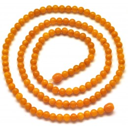 Antique Baltic amber long round beads necklace