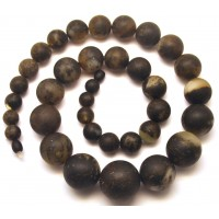 Massive healing Baltic amber round beads long necklace 107 g