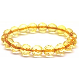 Natural faceted amber bracelet