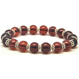 Natural cherry round beads Baltic amber bracelet  10 mm.