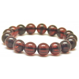 Cherry round beads Baltic amber bracelet  11,4 mm.