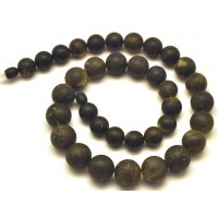 Raw healling round beads  amber necklace