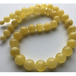 Natural amber round beads necklace