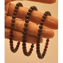 Lot of 3 cherry round beads amber bracelets  5 - 6 mm.