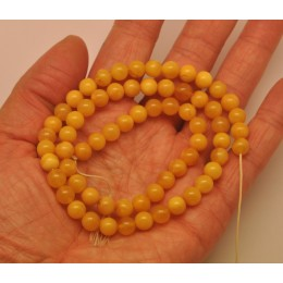 Antique color Baltic amber 66 loose  Beads 7 mm strand