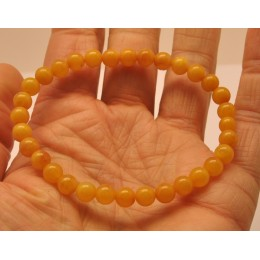Antique color round beads amber bracelet 5,8 mm.