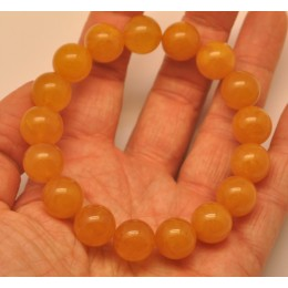 Natural round beads antique color Baltic amber bracelet 13 mm.