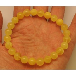Natural round beads amber bracelet  8,2 mm.