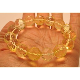 Natural faceted amber bracelet 14 mm.