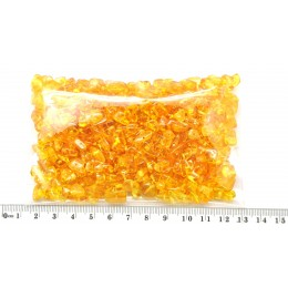 Honey drilled Baltic amber nuggets 50 g .