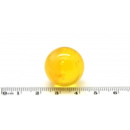 Big Baltic amber round bead 21 mm .