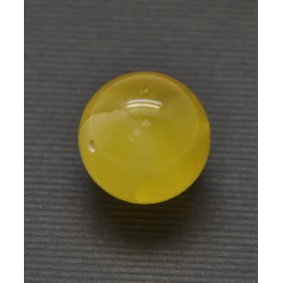 Big drilled Baltic amber round bead 20 mm .