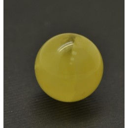 Big drilled Baltic amber round bead 19,5 mm .