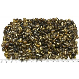 Loose drilled Baltic amber barrel shape pieces 100g