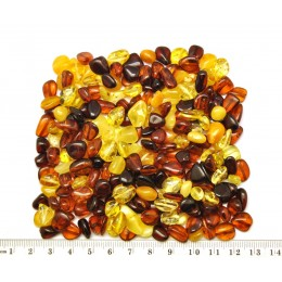 Small drilled Baltic amber beans shape peaces 50 g.