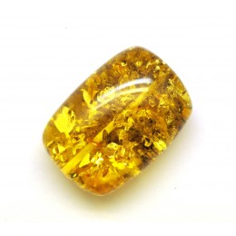 Big drilled Baltic amber barrel shape piece