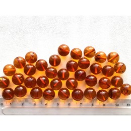 Loose round amber beads 10mm