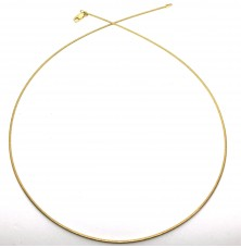 Gold plated silver chain 50cm