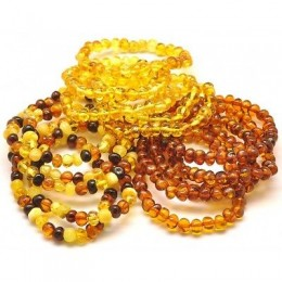 Lot of 15 baroque beads Baltic amber bracelets