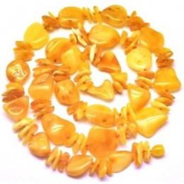Yellow Baltic amber  long necklace