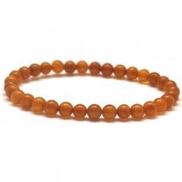 Antique round beads Baltic amber bracelet 5,5 mm.