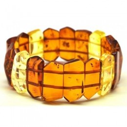 Faceted Baltic amber bracelet