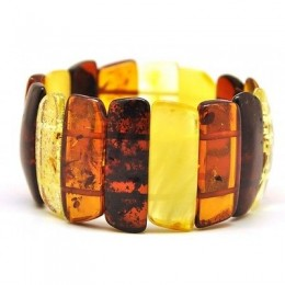 Multicolour Baltic amber bracelet