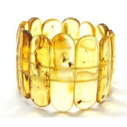 Classic Baltic amber bracelet with insects