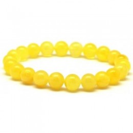 Natural round beads amber bracelet  9 mm.